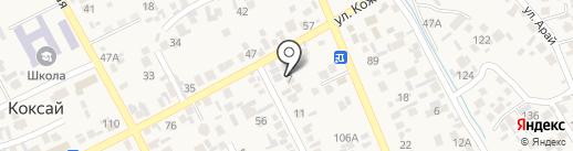 Акжол на карте Коксая
