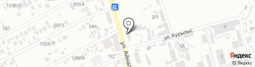 Дамди на карте Алматы