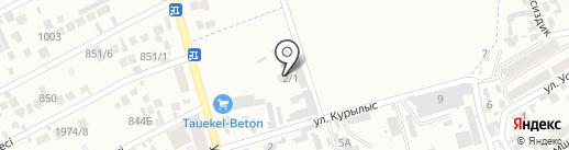 Бетон SK, ТОО на карте Алматы