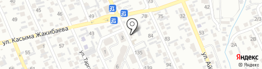 Жуалы на карте Алматы