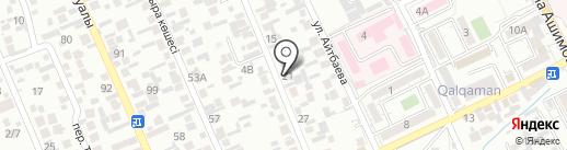 На Айбергенова на карте Алматы