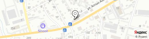 Самал на карте Алматы
