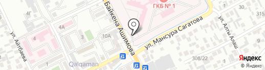 Банкомат, Народный Банк Казахстана на карте Алматы