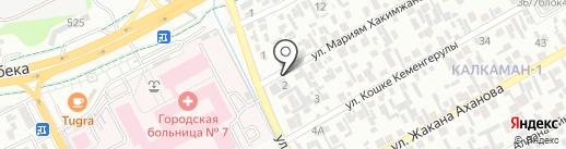 Айдана, продуктовый магазин на карте Алматы