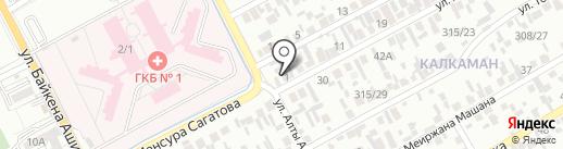 Аида, магазин продуктов питания на карте Алматы