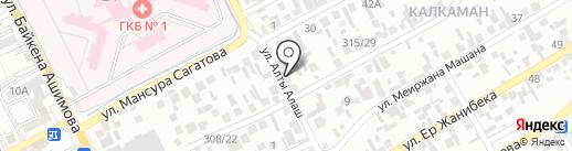 Ельдар, продуктовый магазин на карте Алматы