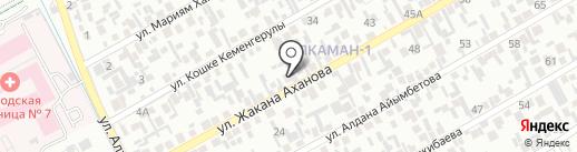 Жанбота, продуктовый магазин на карте Алматы
