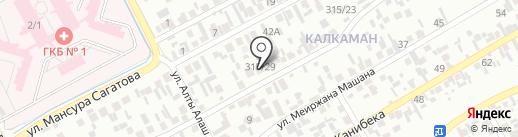 Дана, магазин продуктов питания на карте Алматы