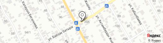 Акжар на карте Алматы