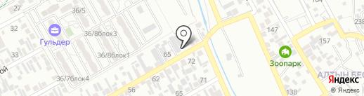 Магазин продуктов питания на карте Алматы