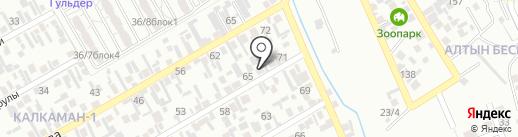 Багдаулет, продуктовый магазин на карте Алматы