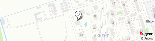 Аккент на карте Алматы