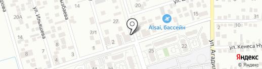 Шапагат на карте Алматы