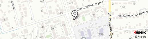 Даму на карте Алматы