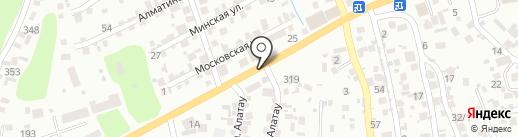ЮКО на карте Алматы