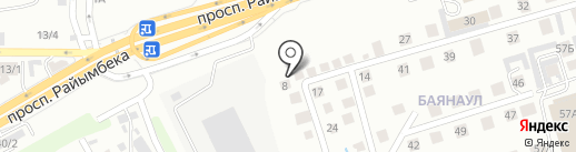 АманатТехСнаб, ТОО на карте Алматы