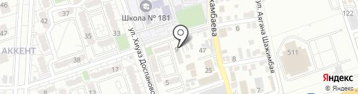 Атлетикс на карте Алматы