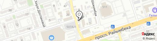 На Сухамбаева на карте Алматы