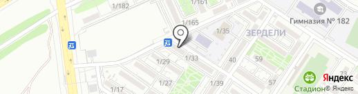 Нотариус Оразмбетов М.А. на карте Алматы
