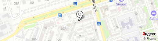 Аксу на карте Алматы
