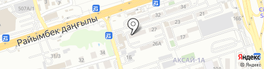 Сакура на карте Алматы