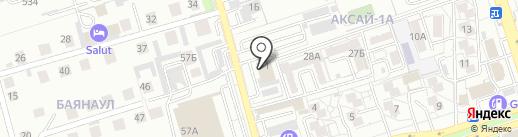 Ерен Тау Р-Ай на карте Алматы