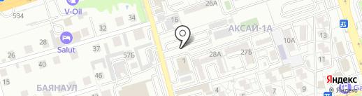 Улан на карте Алматы