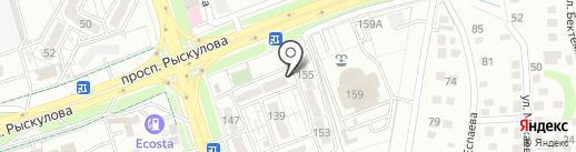 Батыр-Kz на карте Алматы