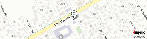 Гибрат на карте Алматы