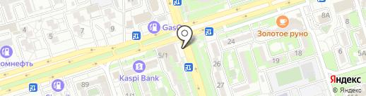 Киоск по ремонту обуви на карте Алматы