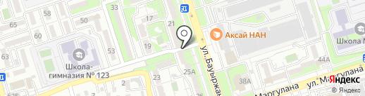 Ердос на карте Алматы