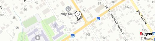 Теплый дом на карте Алматы