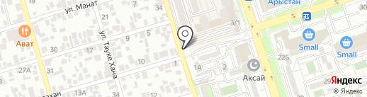 Байконур, продуктовый магазин на карте Алматы