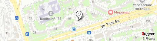 Эдем на карте Алматы
