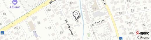 Ак-Бота на карте Алматы
