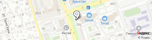 Типикин Н.А., ТОО на карте Алматы