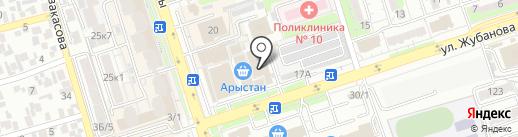 Киоск по продаже цветов Алена на карте Алматы