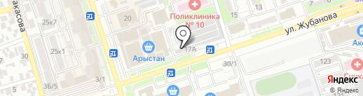 У Жениса на карте Алматы