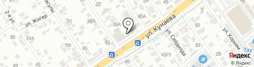 Дамир, кафе на карте Алматы