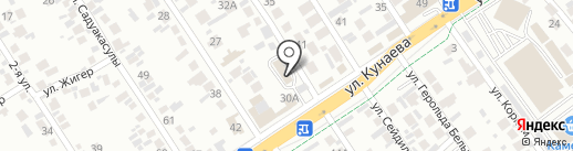 Еламан на карте Алматы