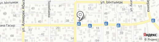 Нурбайкен на карте Алматы