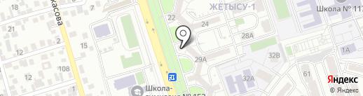 Магазин разливного пива на карте Алматы