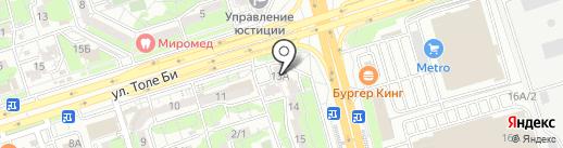 МЦКА, ТОО на карте Алматы