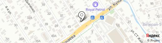 Дастур на карте Алматы