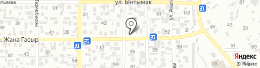 Шагын маркет на карте Алматы