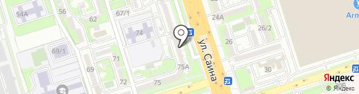 Стрекоза на карте Алматы