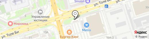 OK на карте Алматы