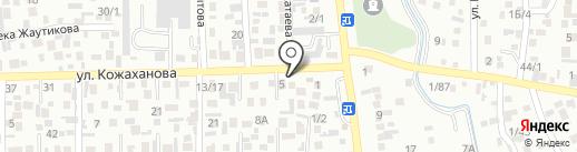 Акбота на карте Алматы