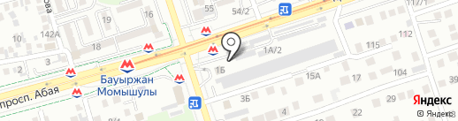 Автостоянка Байтереков на карте Алматы
