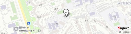 Алматинский технико-экономический колледж путей сообщения на карте Алматы